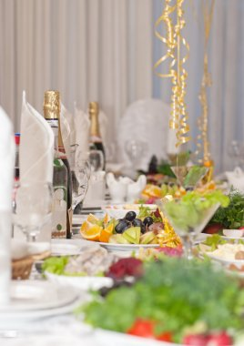 Luxury holiday table