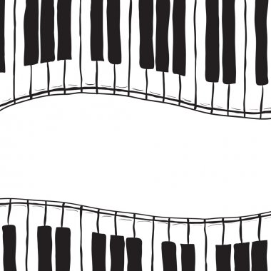 Two piano keys - sketch style