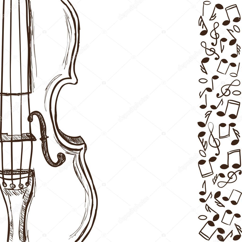 Noten Violine oder Gitarre und Musik — Stockvektor © kytalpa #12678704