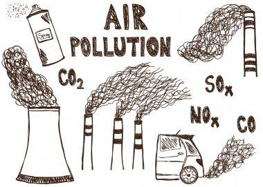 Air pollution doodle