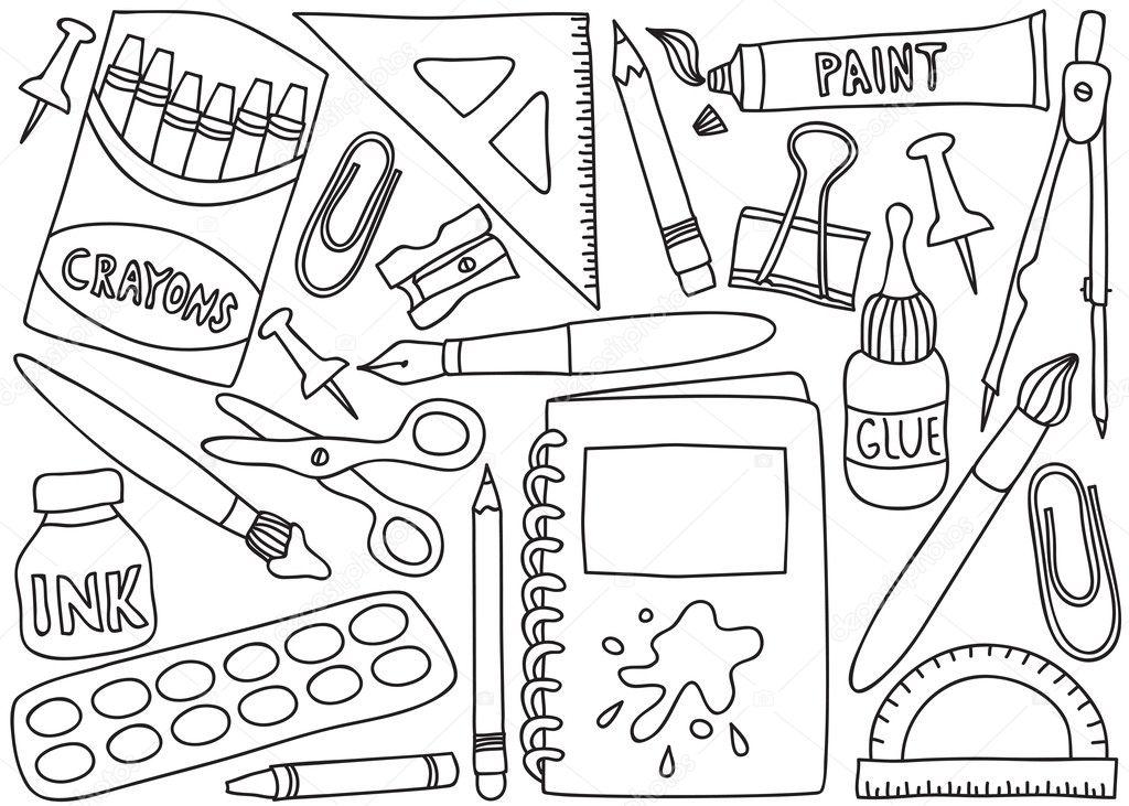 Dibujos Infantiles Escolares Para Colorear: Vetores De Stock © Kytalpa