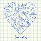 Matematika rajzok szív alakú