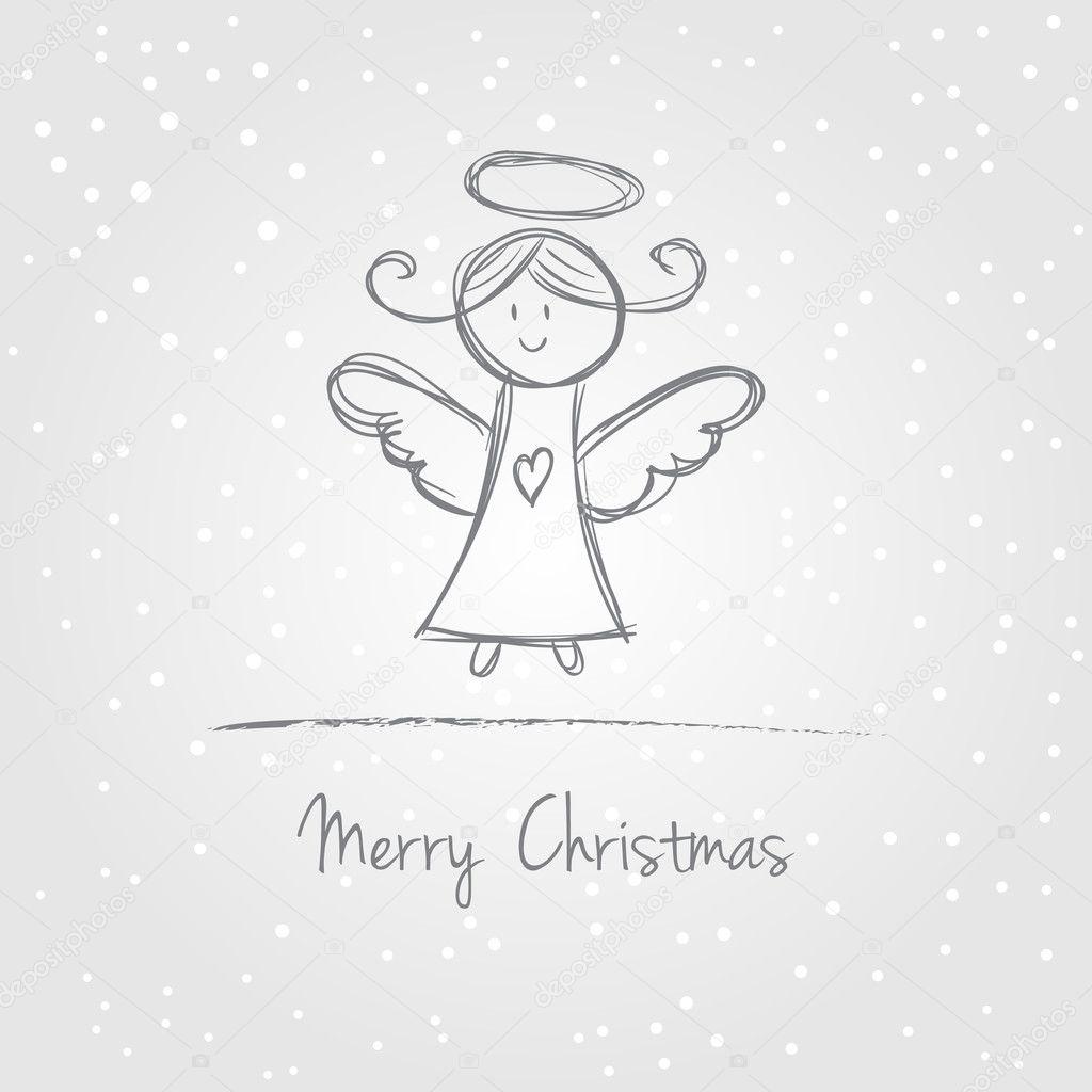 weihnachten engel doodle stockvektor kytalpa 31997775. Black Bedroom Furniture Sets. Home Design Ideas