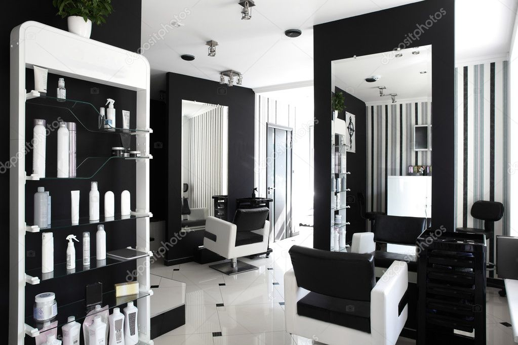 Interior of modern beauty salon stock photo fiphoto for Photo salon moderne