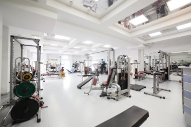 gym with special equipment, empty