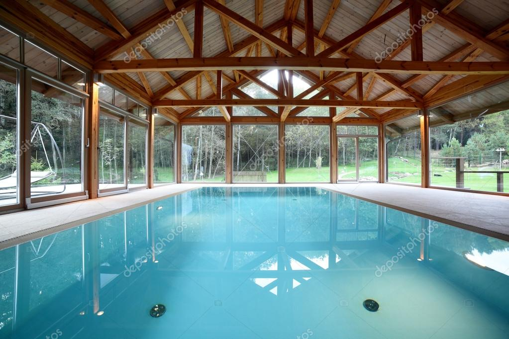 Pictures : pool house | Interior of swimming pool inside of house ...