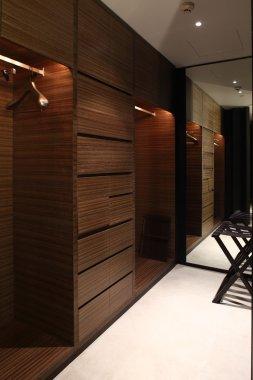 nice interior of bright cloakroom