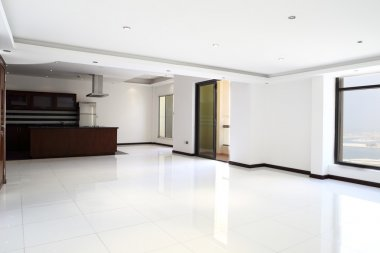 interior of bright empty room