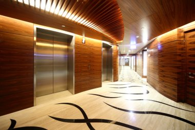 interior of bright hallway home