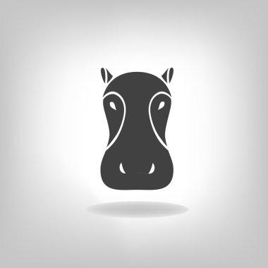 emblem of a hippopotamus on a light background