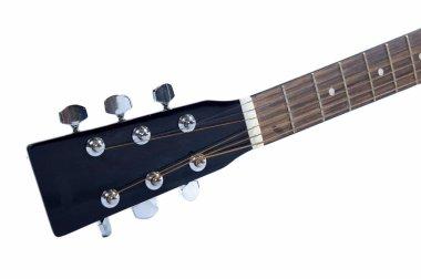 Guitar over white