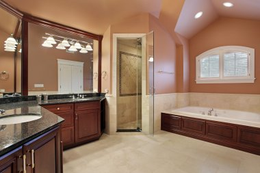 Master bathroom in luxury home