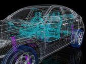 Fotografie 3D-Autozeichnung
