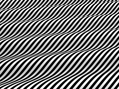 Abstract black and white waves background