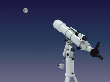 Telescope looking on the moon