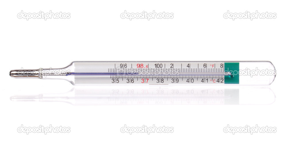 Body Thermometer Displaying Healthy Human Body Temperature 36 6