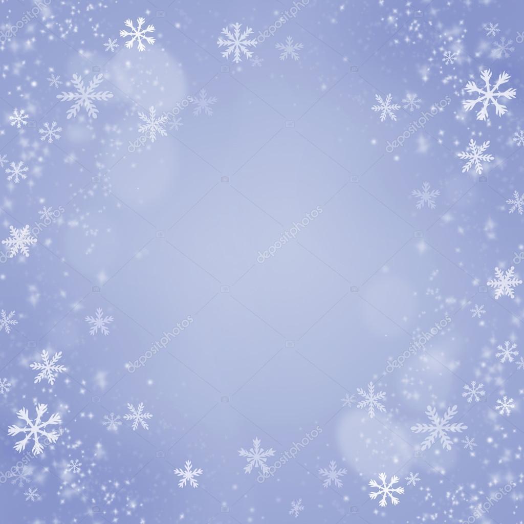 Weihnachten Schneeflocken Hintergrund. blaue Weihnachtskarte ...