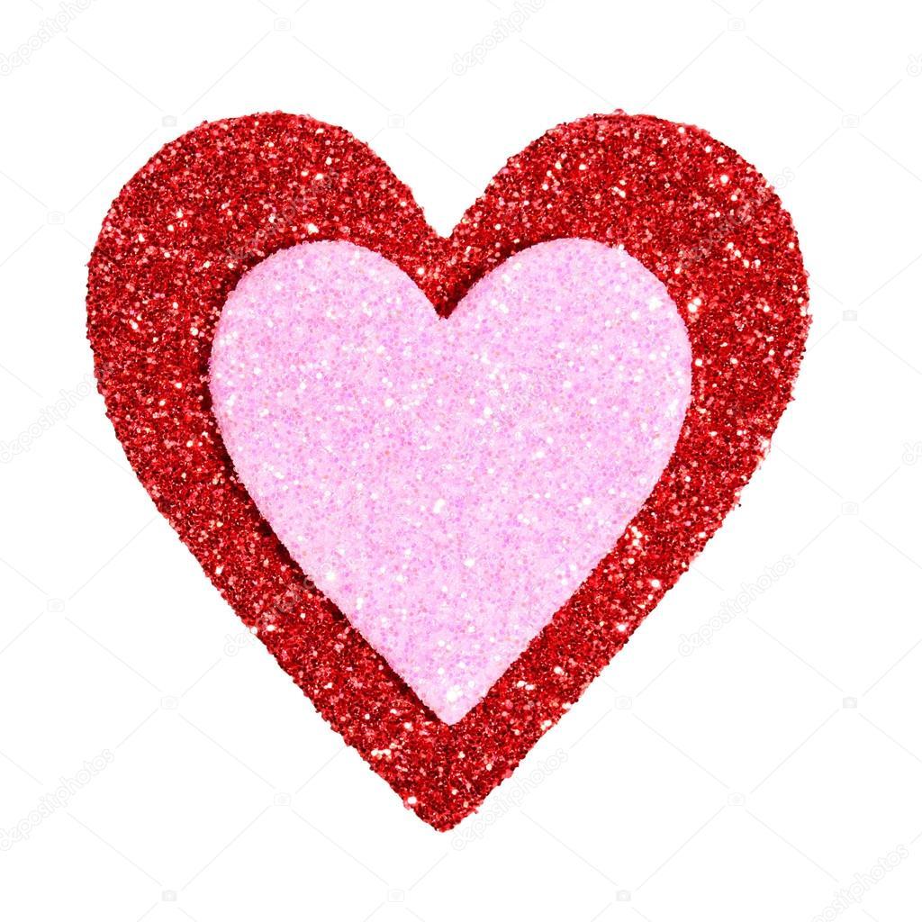 Fotos Corazones Grandes Con Brillo Día De San Valentín Brillo