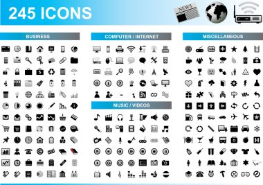 245 Icons Set