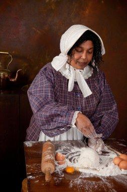 Victorian bread dough kneading