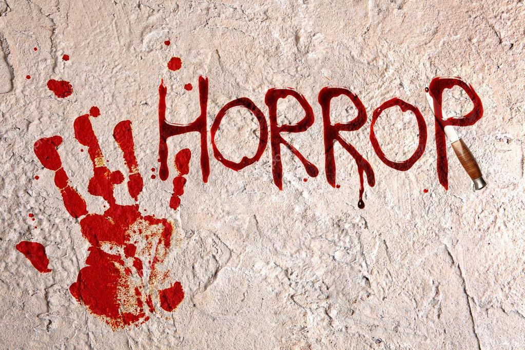 Картинка с надписью ужасы, днем
