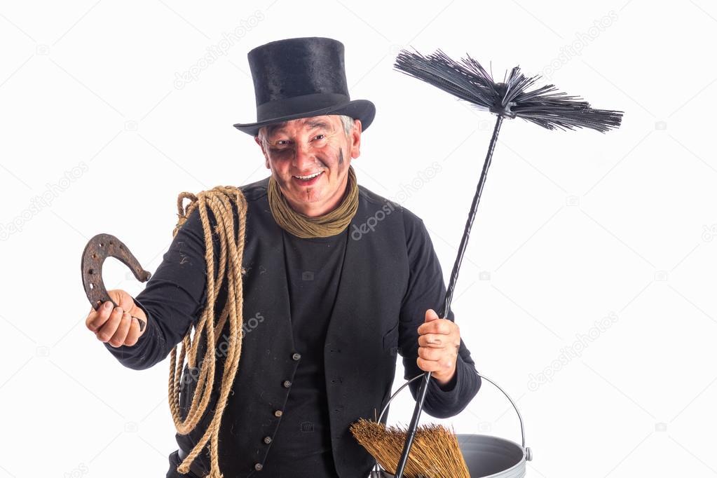Chimney sweep wishing good fortune