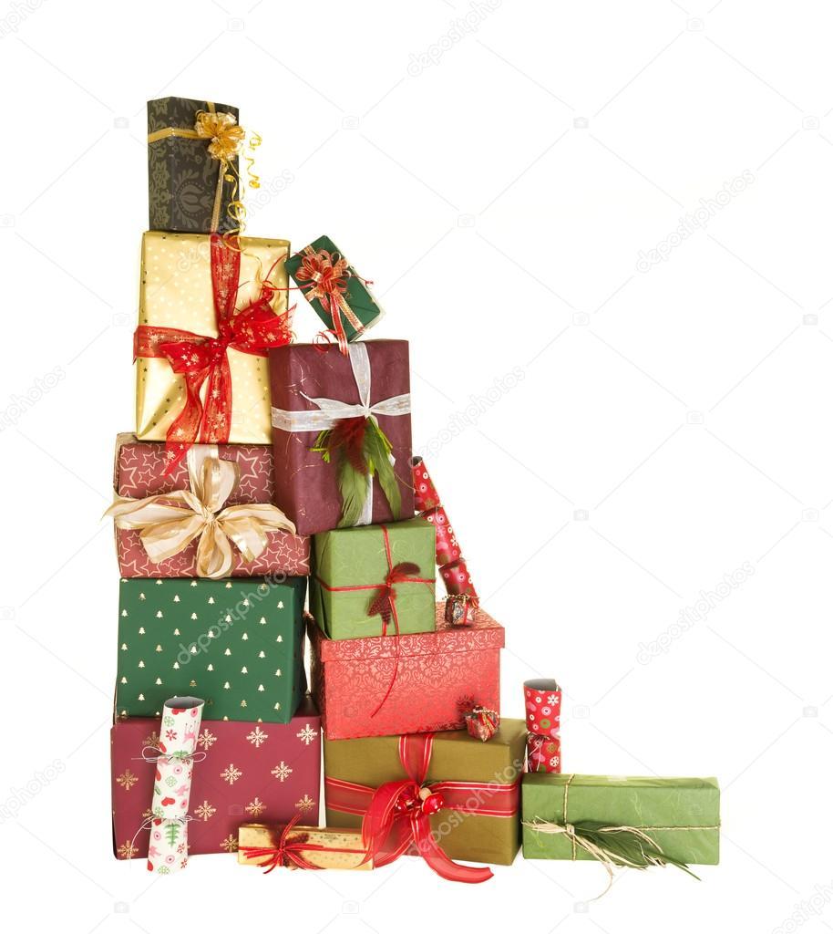 Stack of christmas presents — Stock Photo © Klanneke #14137630