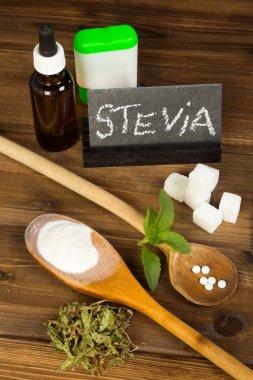 Sugar and sweetener stevia