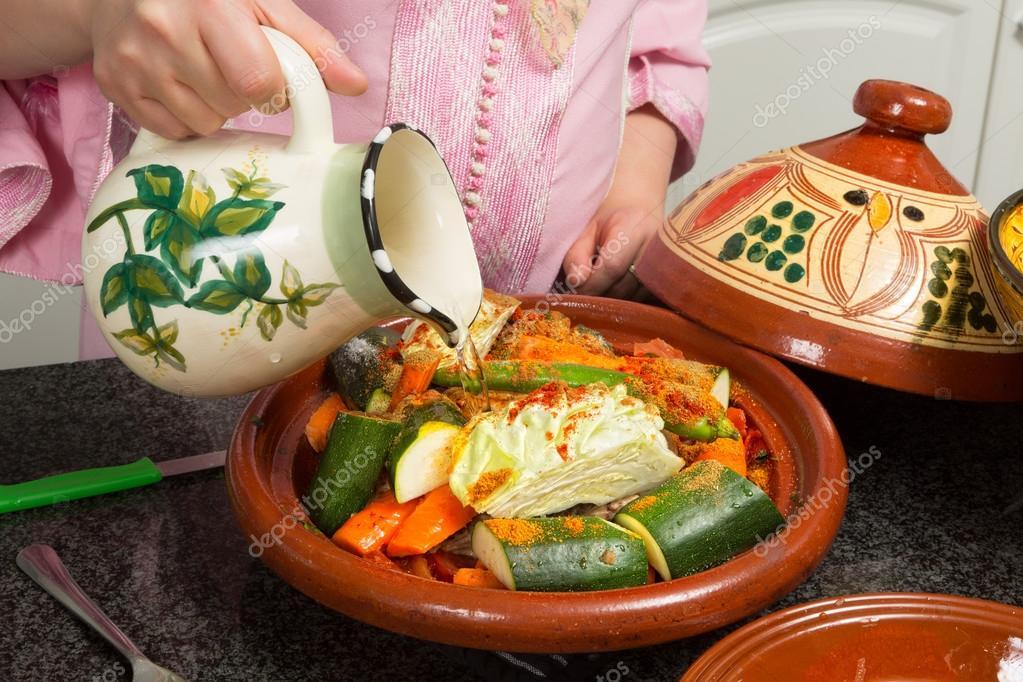 Islamic tajine preparation — Stock Photo © Klanneke #26806047