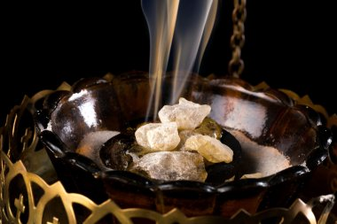 Incense on charcoal