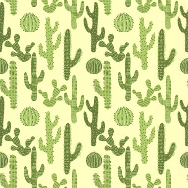 Seamless pattern with cactus 1