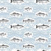 Fotografie nahtlose Muster mit Fischen