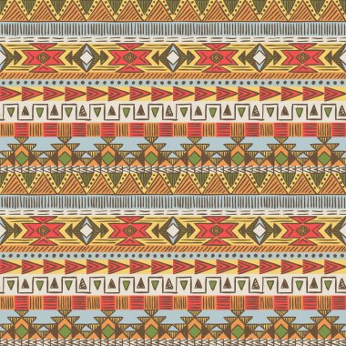 Seamless ethnic pattern in bright colors
