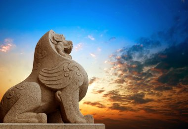 Traditional Chinese stone lion
