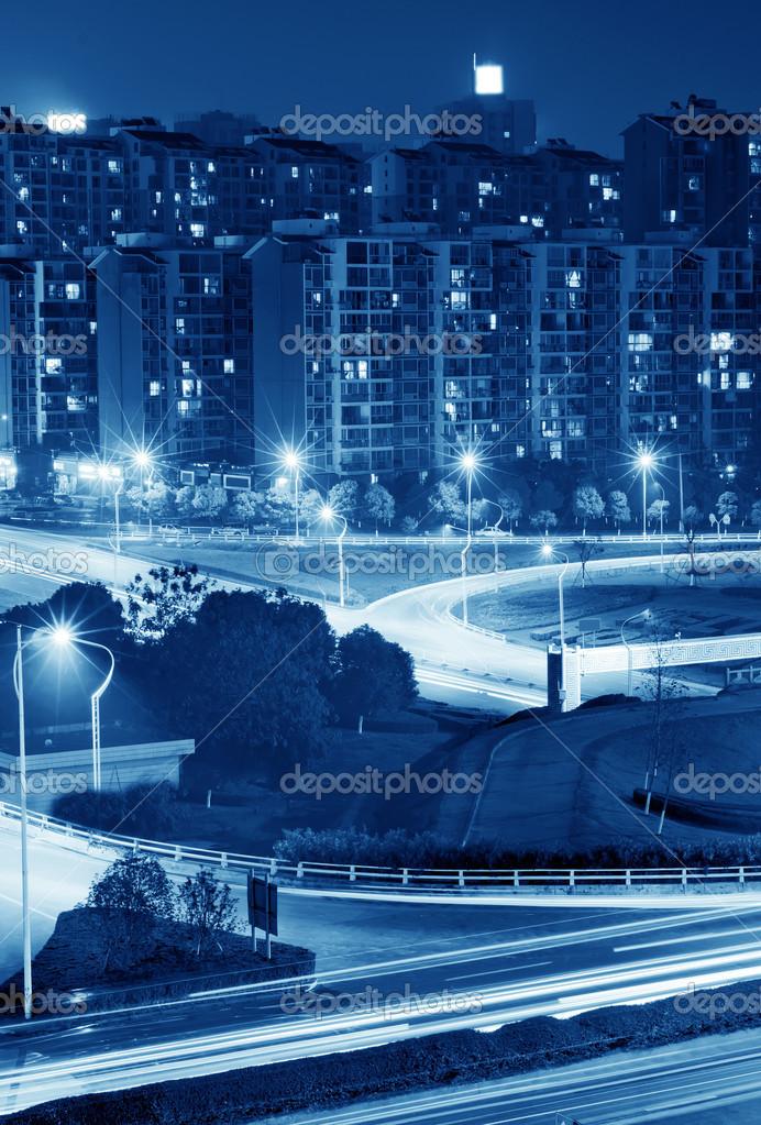 Фотообои Highway light trails
