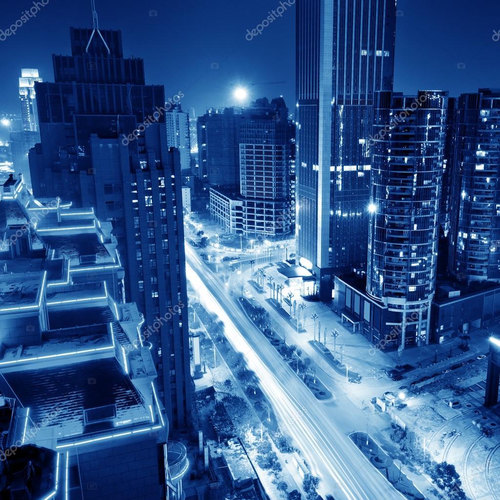 Фотообои Шанхай Ночь