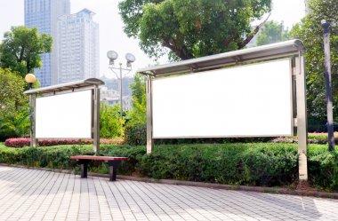 Park white billboard