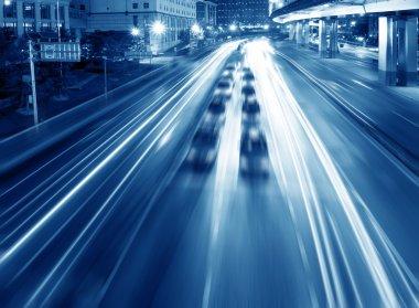 expressway at night time