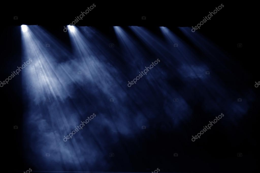 Black background, the spotlight.