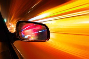 Night flying car Urban