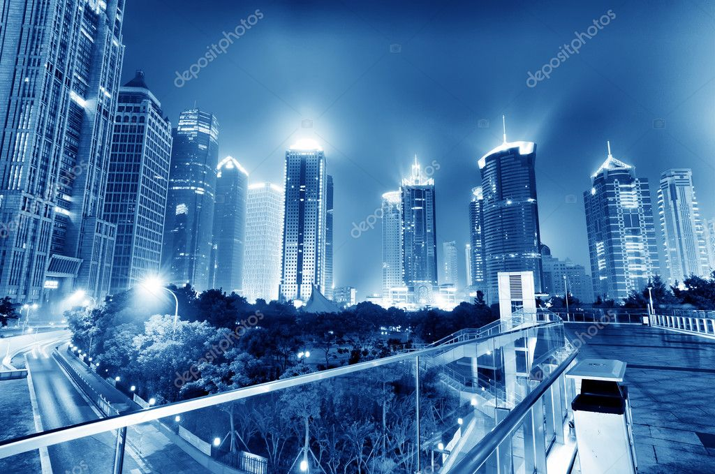 Фотообои Now the city at night