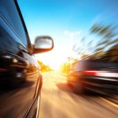 Fényképek nagy sebességű autó