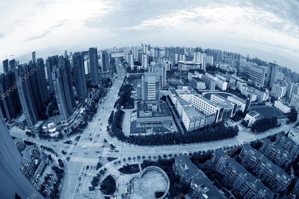 Фотообои Aerial view of houses