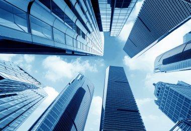 Metropolis of Shanghai's modern office building stock vector