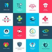 Fotografia set di icone  simboli medici
