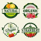 Photo Set of Fresh  Organic labels