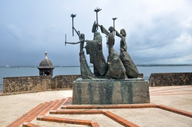 La Rogativa statue, Old San Juan (Puerto Rico)