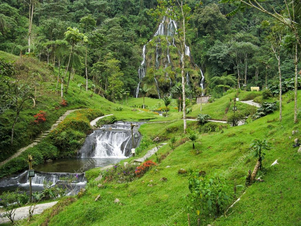 Waterfalls at Santa Rosa de Cabal, Colombia
