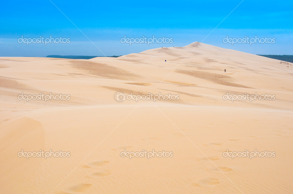 The Great Dune Of Pyla Arcachon France Stock Photo
