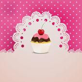 Cupcake mit rosa Creme
